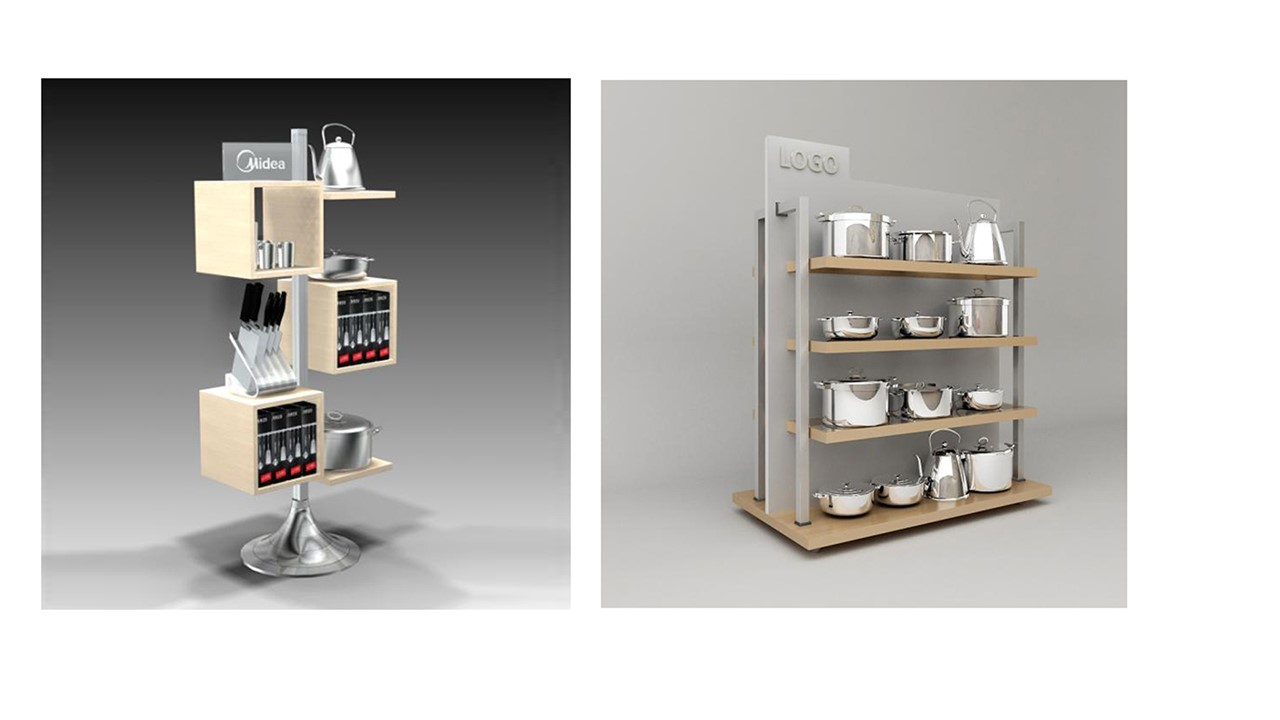 kitchenware gondola floor display