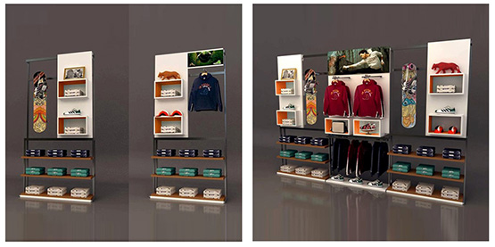 boutique wall display retail store equipment