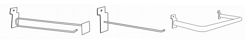 Slatwall display accessories hooks