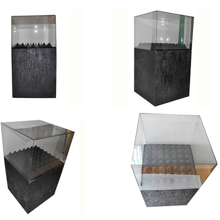 Free standing acrylic display case