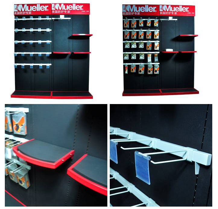 muller sportwear equipment display rack