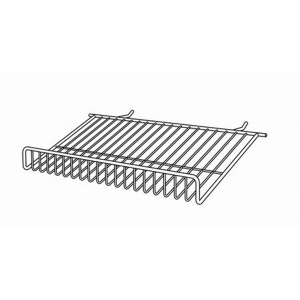 Flat slatwall wire shelves