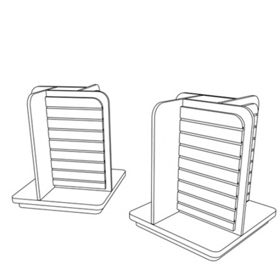 4-sides slatwall display stand
