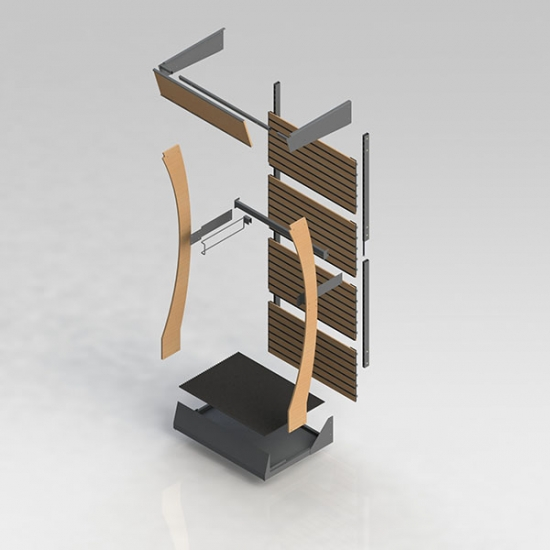 End cap display stand