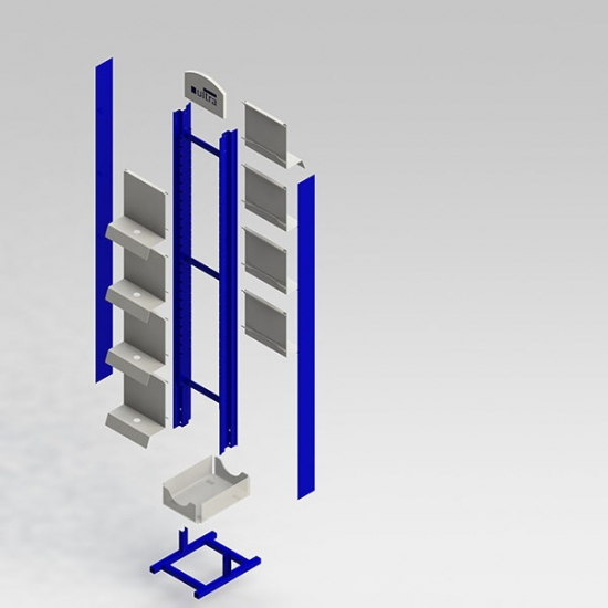 metal floor display stand