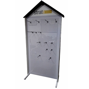 Double side pegboard display stand