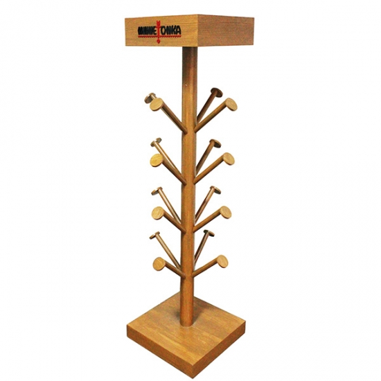 wooden hat display stand