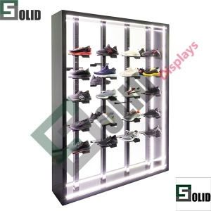 LED shoe display rack